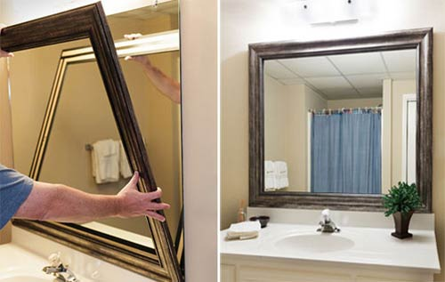 Use of the frame in bathroom