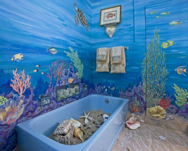 Marine Effect in Bathroom
