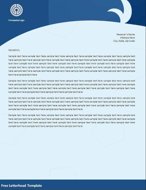 Letterhead Sample Free Letterhead Templates In Word Excel Pdf
