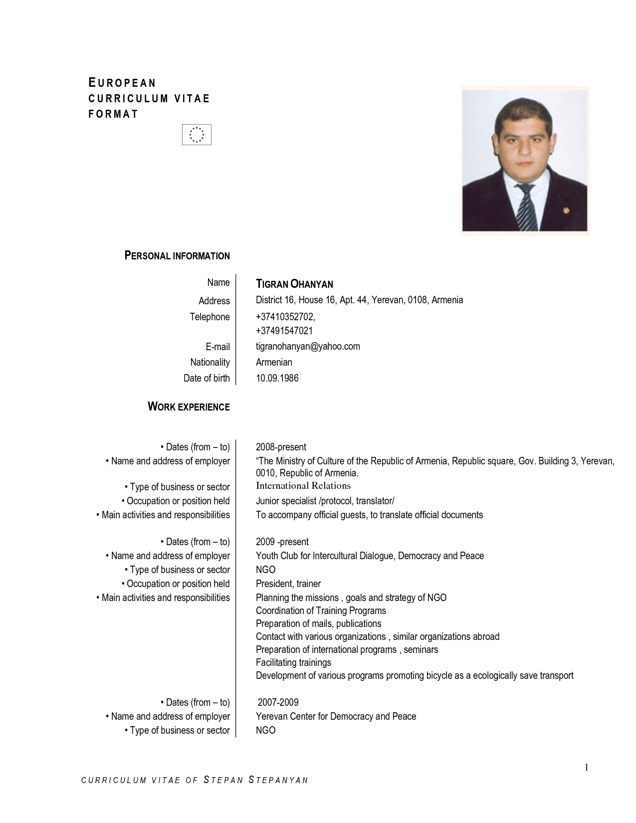 Curriculum Vitae English Sample Download. awesome resumecv and ...