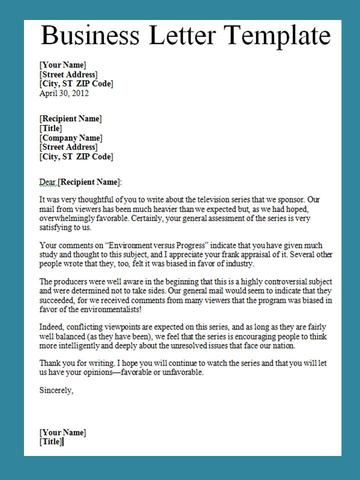 Business letter template and their benefits accmission Image collections