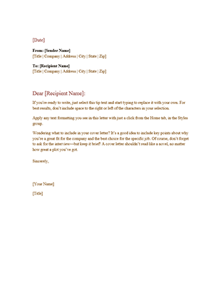 Business letter template and their benefits spiritdancerdesigns Choice Image