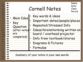 What is Cornell notes used for?