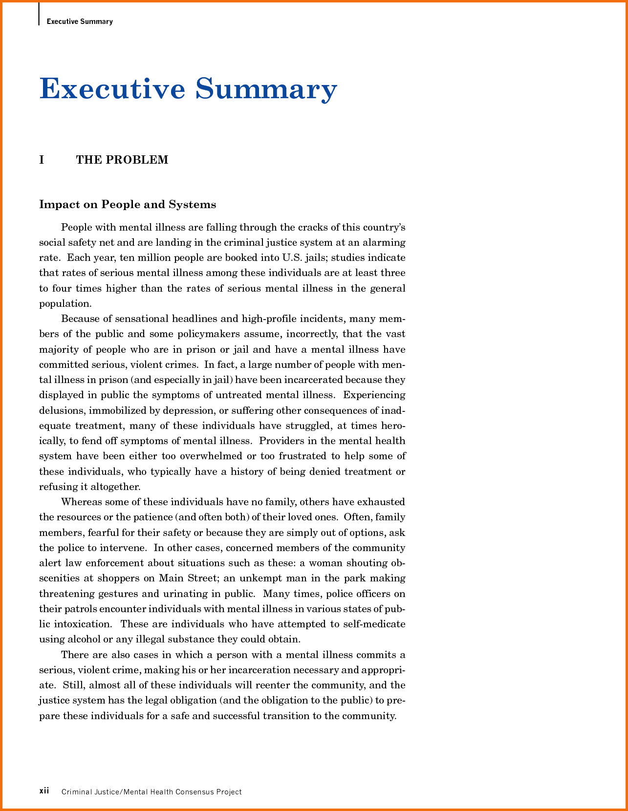 executive brief template – An Executive Summary