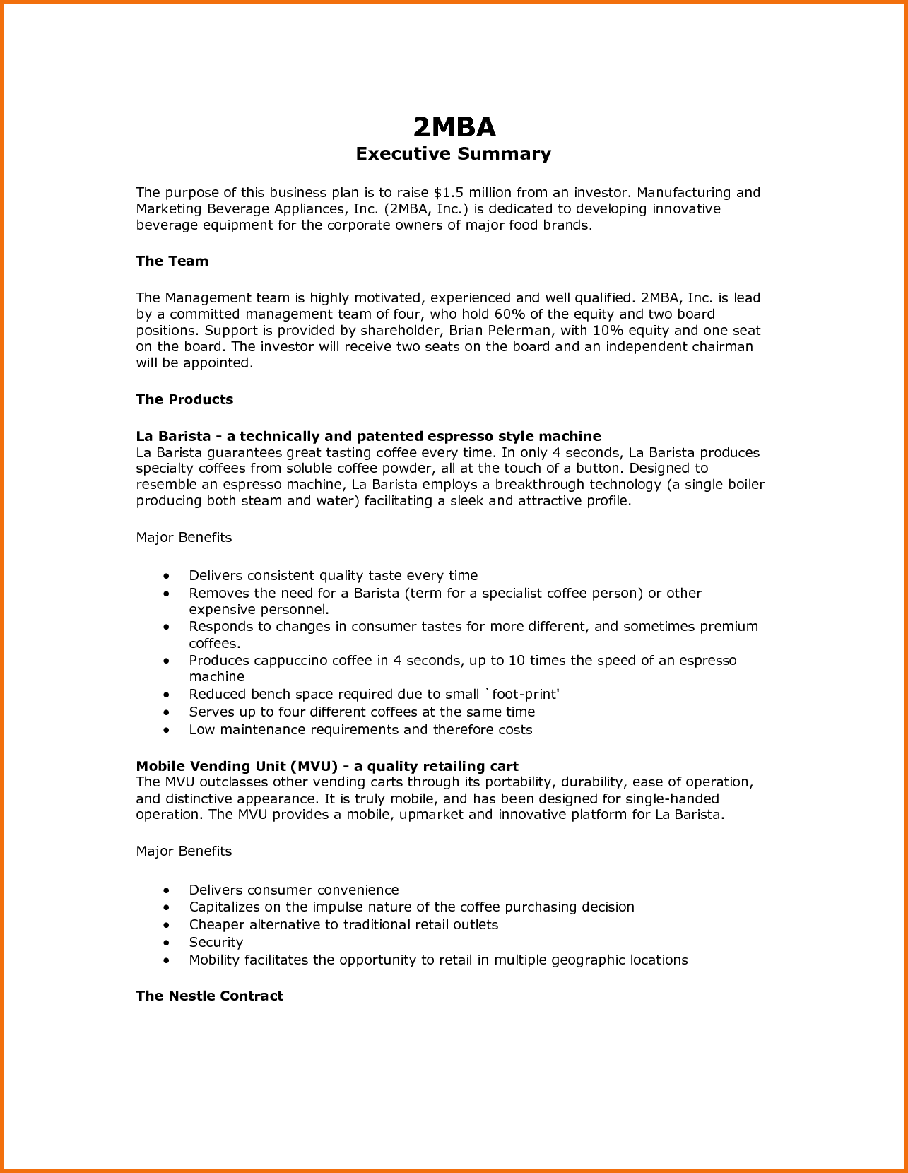 cover letter executive summary example 8 free executive summary