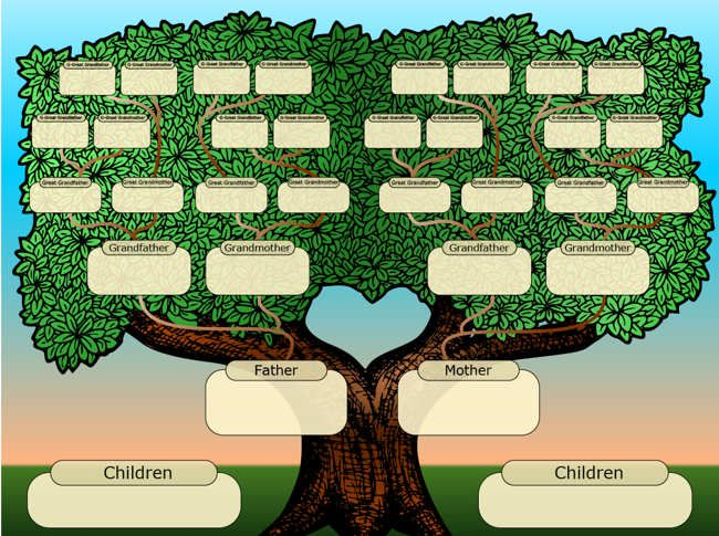 This is a photo of Candid Family Tree Free Printable