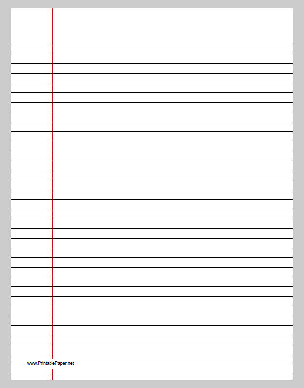 Printable lined paper and its various kinds