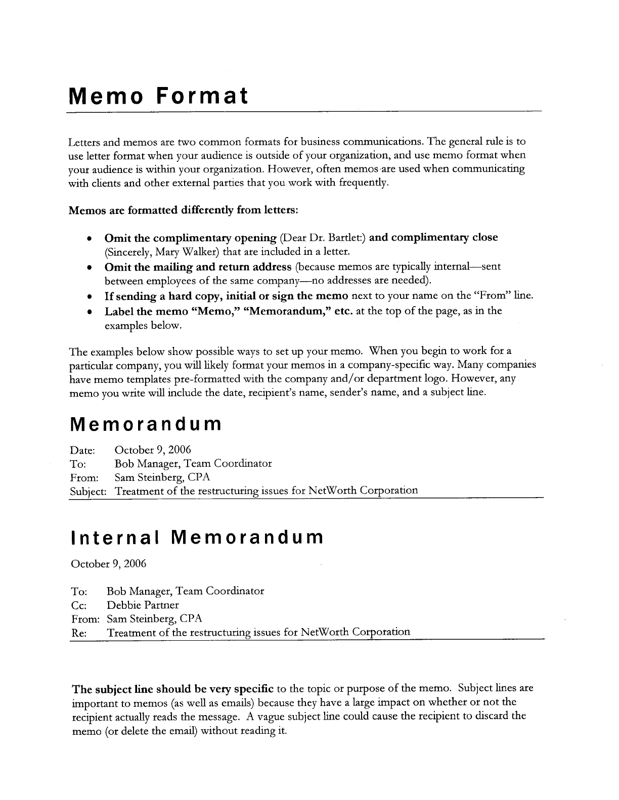 Interoffice Memorandum  Inter Office Communication Letter