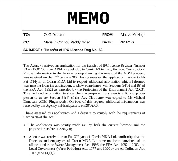 How Is A Business Memo Format Written? - Obfuscata