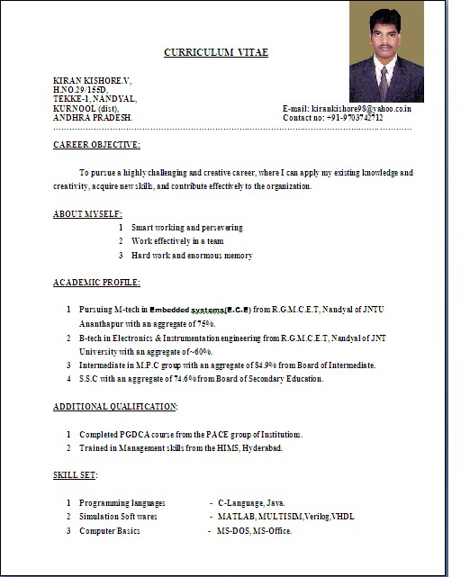 how to write the best resume format resume standard format