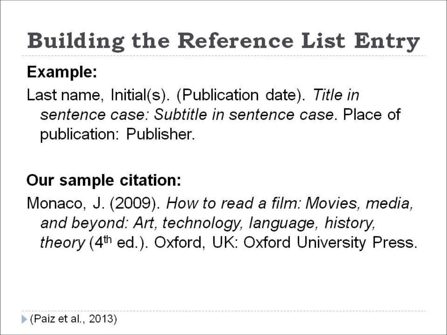 apa citation style examples Apa citation style: examples based on the publication manual of the american psychological association, 5th edition, csb & sju reference bf 767 p83 2001.
