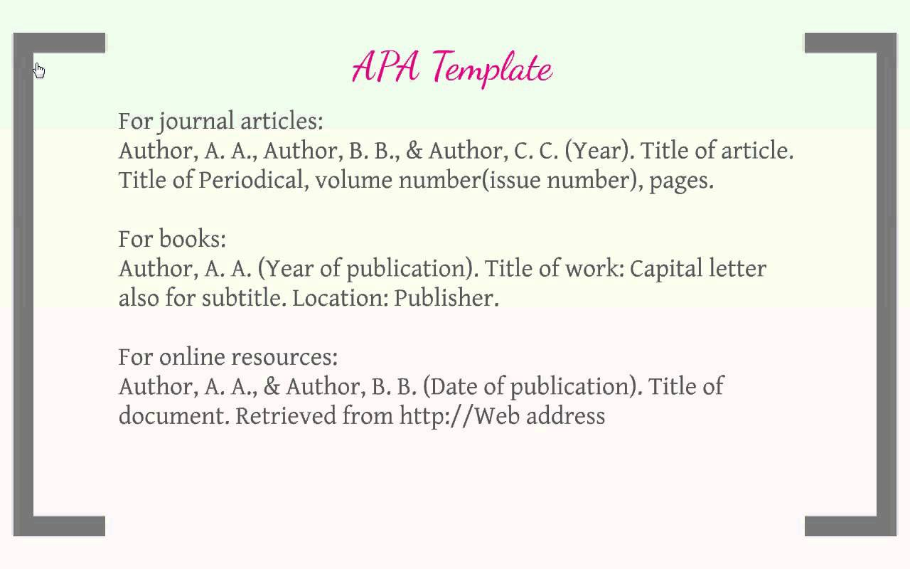 citing articles in apa format