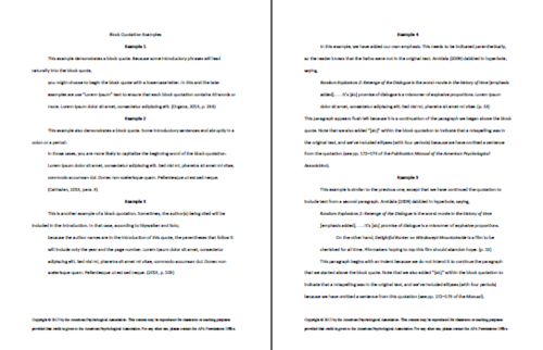 Paper in apa style
