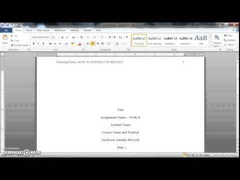 How to format your paper in APA - Obfuscata