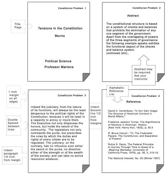 apa format paper