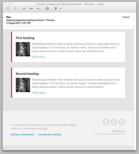 apple mail examples