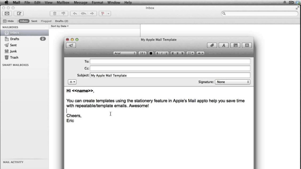 apple mail templates