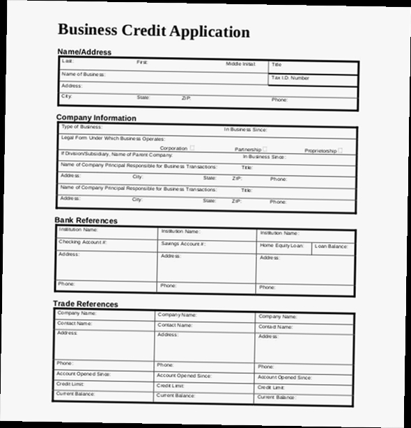 Business Credit Application Form Pdf - Obfuscata
