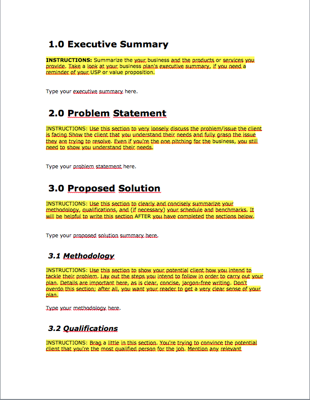 how to make a business proposal pdf