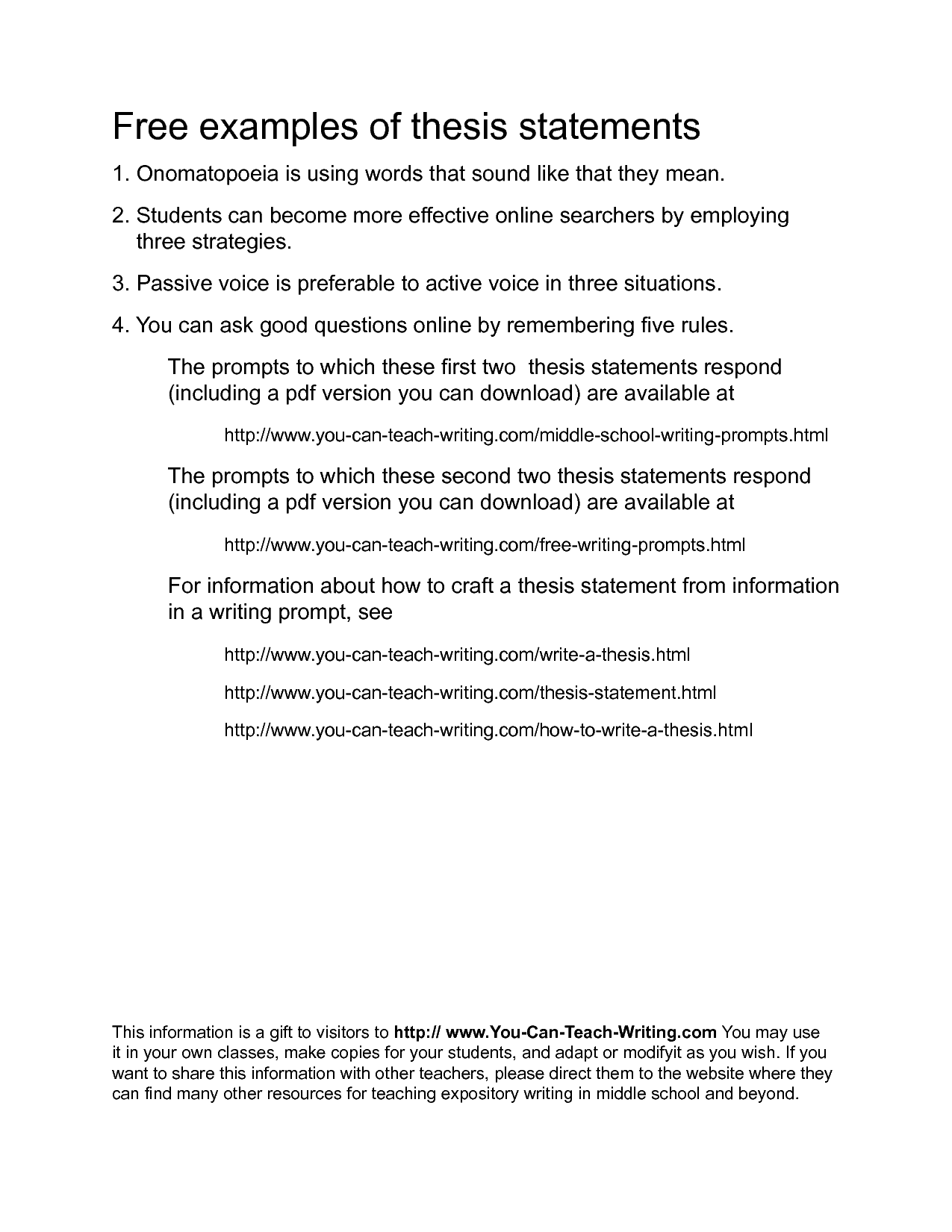 good thesis statements for narrative essays A narrative essay when you know where you are going, you tend to get there in a well organized way with logical progression a good narrative essay thesis statement.