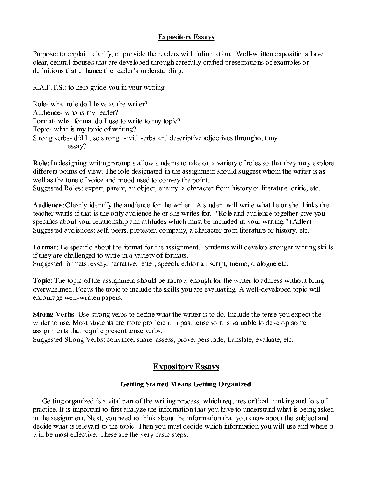 Example thesis statement outline essay