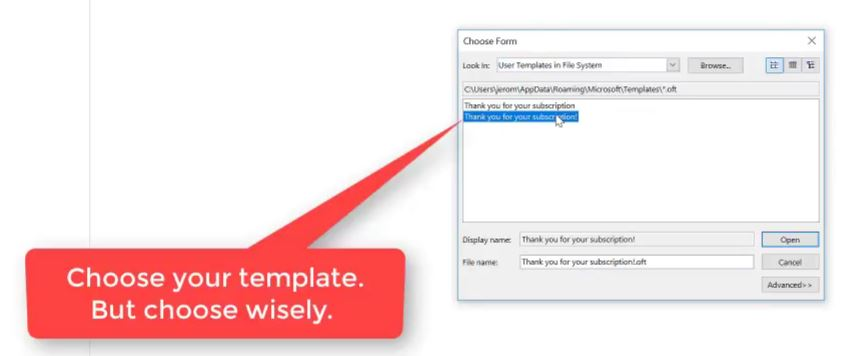 how to create an email template in outlook-step-11