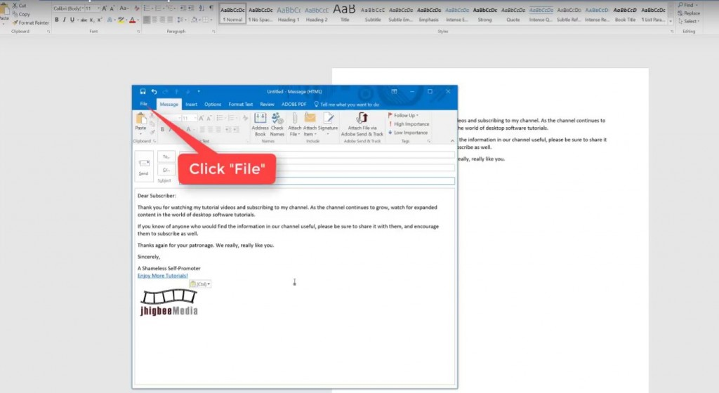 how to create an email template in outlook-step-6