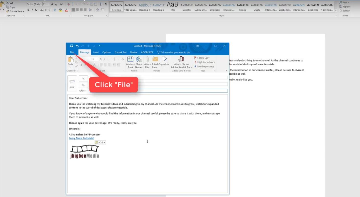 How to create an email template in outlook for Designing an email template