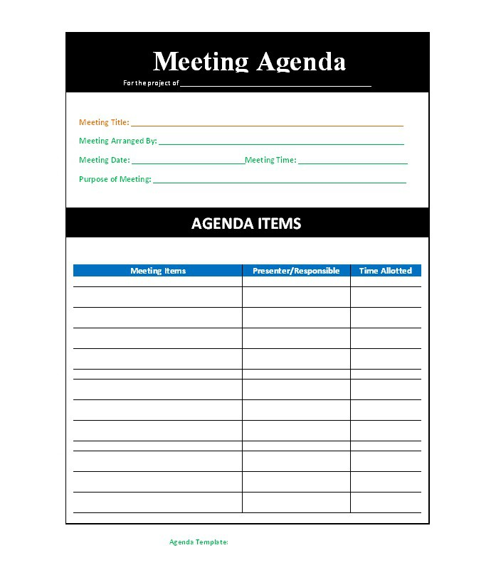 What Are The Tips That A Meeting Agenda Template Offers? - Obfuscata
