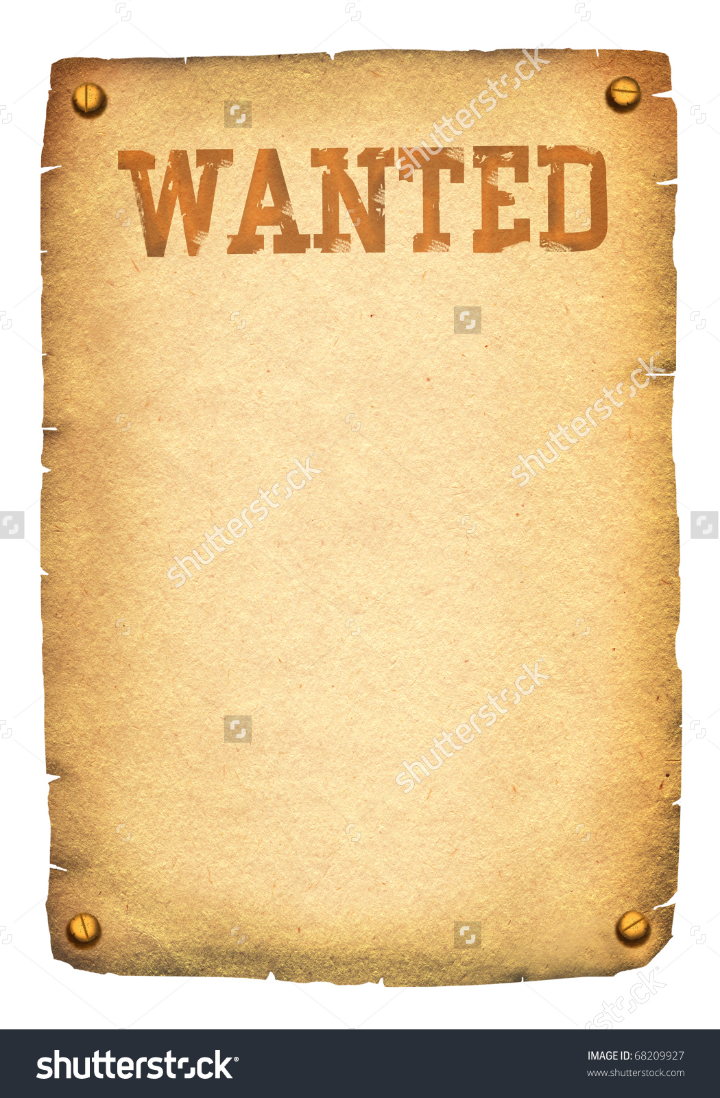 What's the simplest way of fashioning a wanted poster?