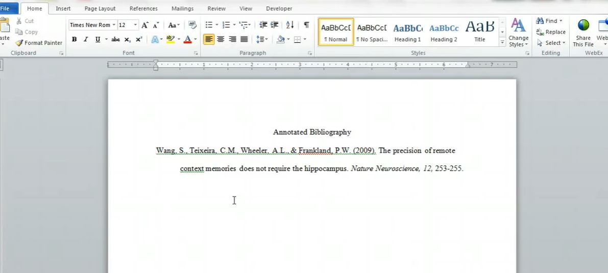 how to include thesaurus in my bibliography