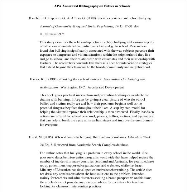 annotated bibliography layout This handout provides information about annotated bibliographies in mla, apa, and cms.