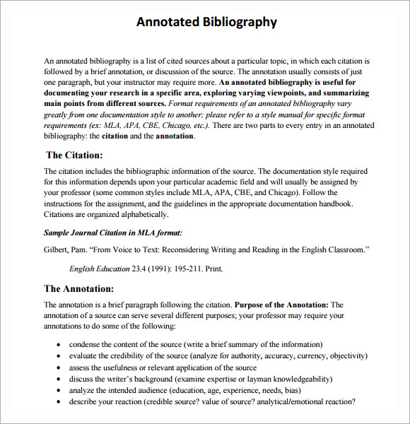 A Complete Guide to the MLA Annotated Bibliography