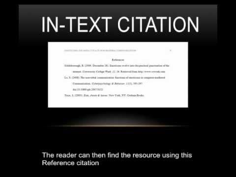 Put citations internet research paper