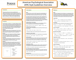 A Handy Classroom Poster on APA Style