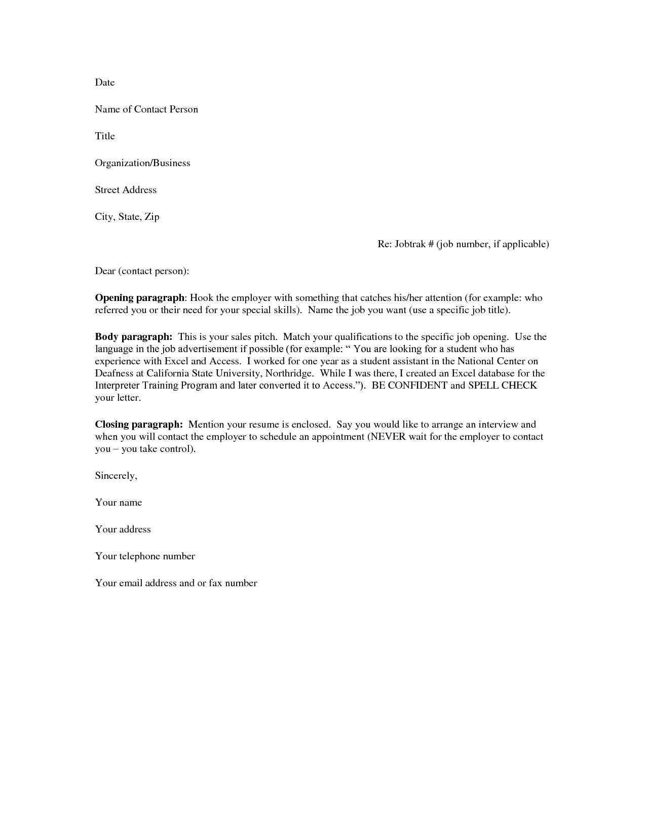 basic cover letter for a resume - What Is A Cover Letters