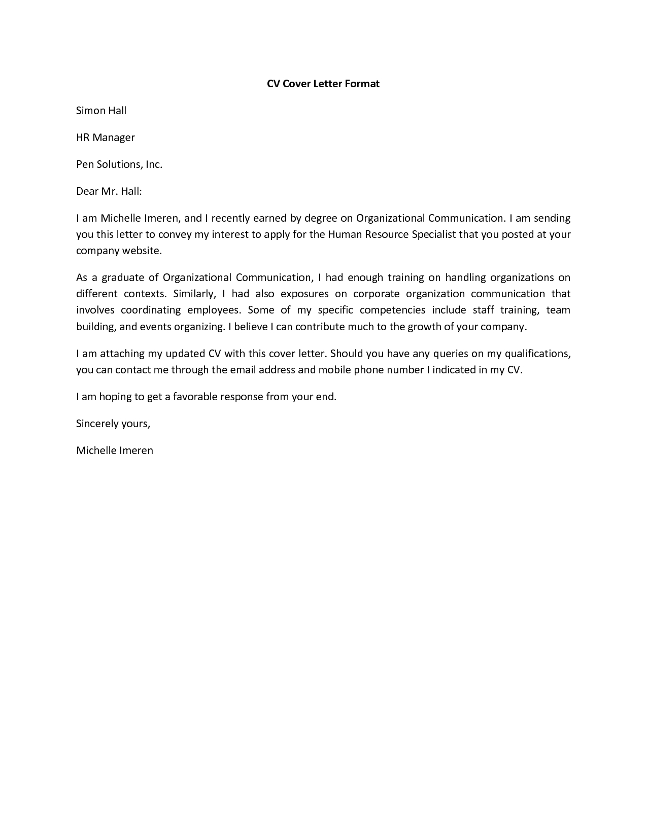 cover letter cv templatehtml - Resume Cover Letter Example Template