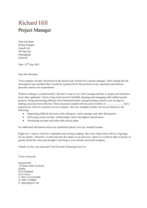 Basic Cover Letter For A Resume - Obfuscata