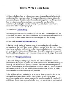 who to write a essay introduction