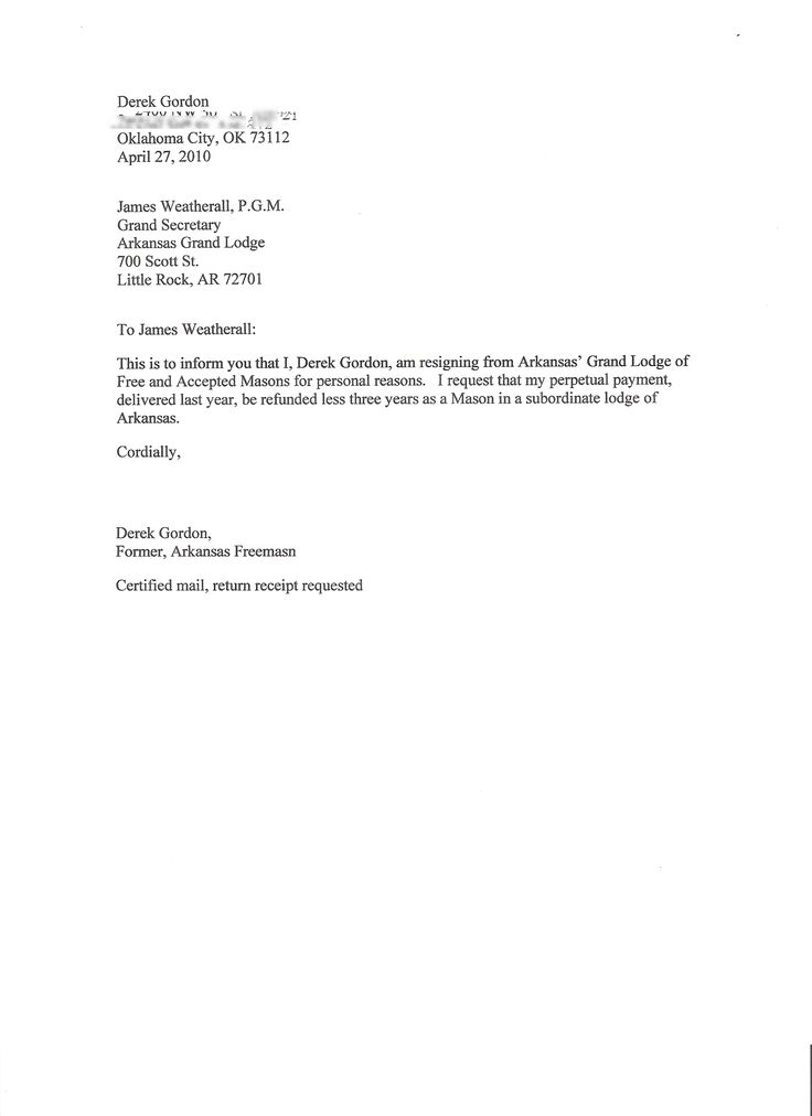 Examples Of Resignations Letters Example Relocation Resignation