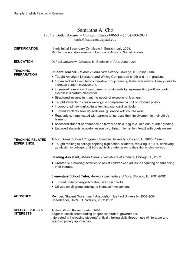 resume english teacher english teacher resume template template resume english examples 12 resume english teacherhtml