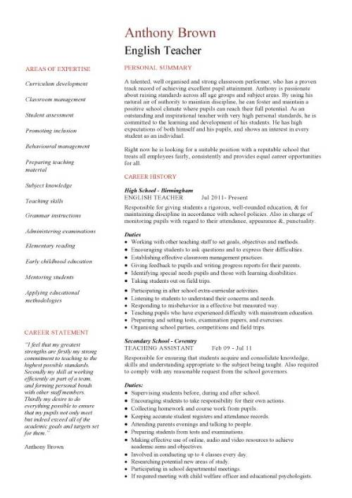 resume english examples a good job resume