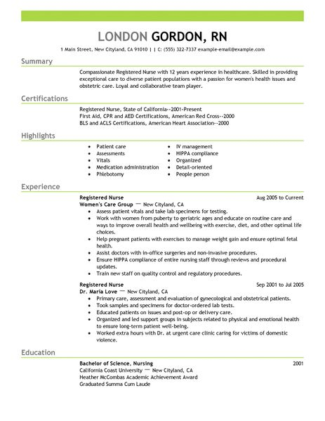 Sample resume for nurses for philippines