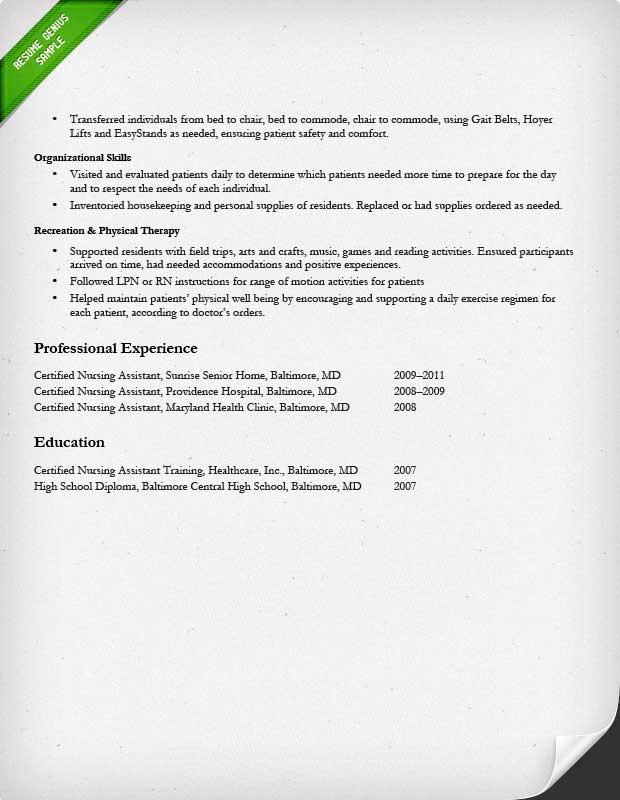 Latest sample of resume for nurses
