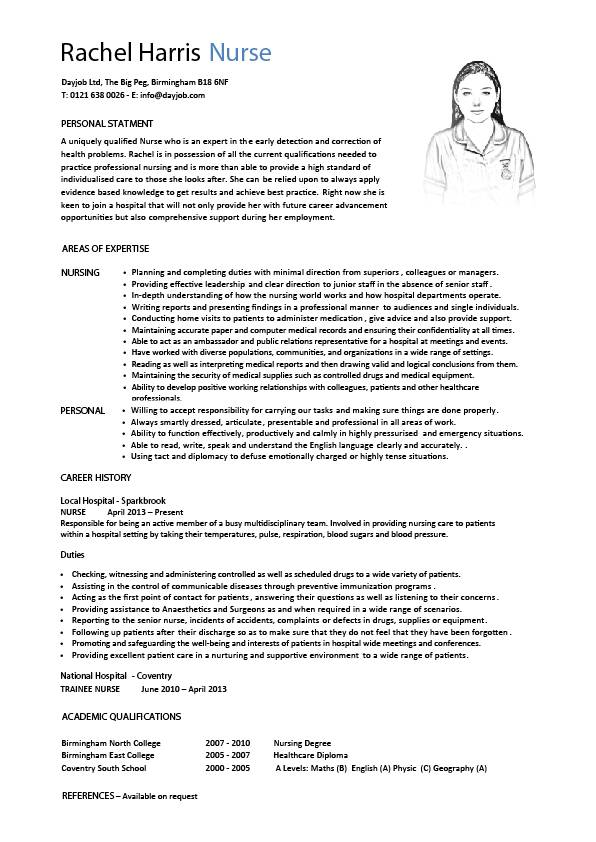 resume for nurses applying abroad