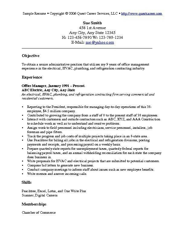 Sample Resume Objective Statement Sample Resume Objective – Sample Resume Objective Statements
