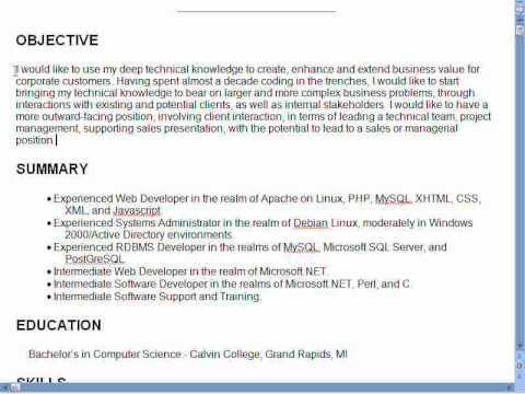 An Objective On A Resume. Marketing Resume Objectives Examples Job