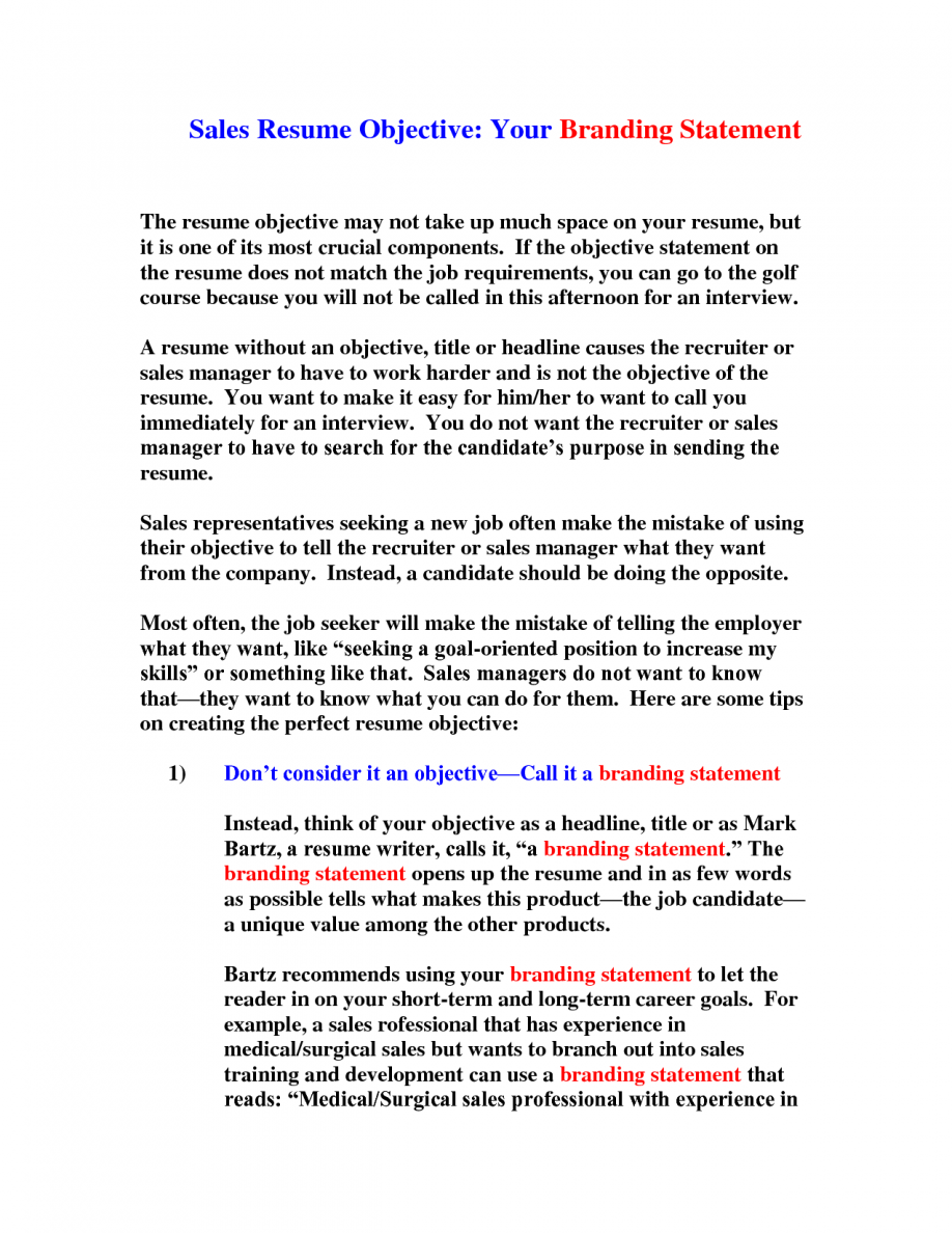 resume objective statement obfuscata - Excellent Resume Objective Statements