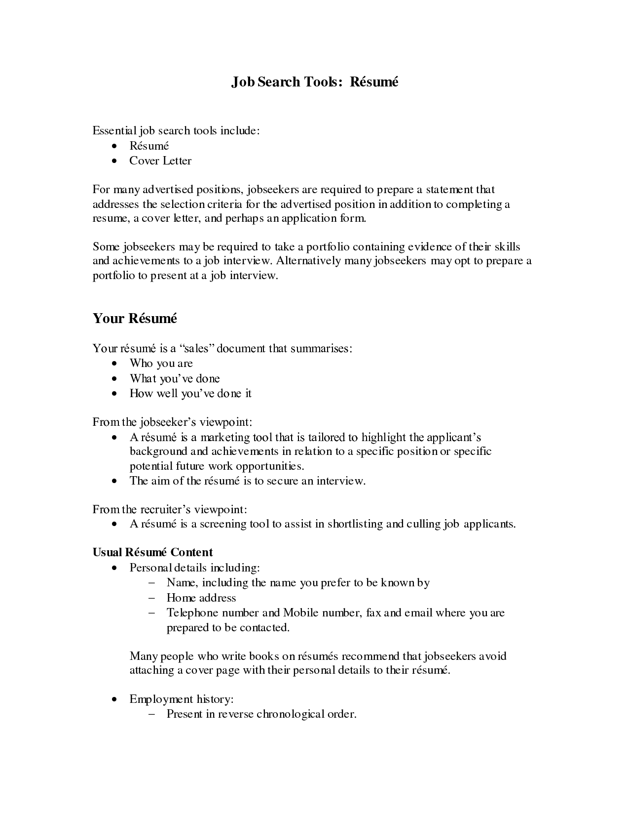 Good resume profile statements examples – Objective in a Resume Example