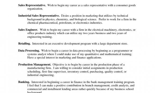 resume objective sentences - Industrial Resume Objective